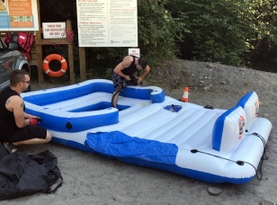 PARTY RAFT AT SANDY RIVER-OXBOW
